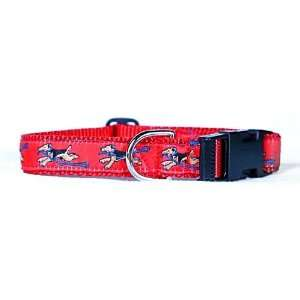 Designer Welsh Terrier Dog Collar   Red Welsh Terrier Collar   Medium