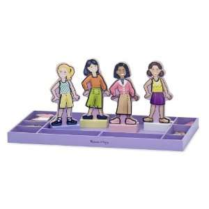 Melissa & Doug Magnetic Dress Up   Best Friends Forever Toys & Games