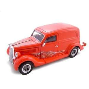 1935 Ford Sedan Delivery Red/Flames 1/24 Diecast Car Toys & Games