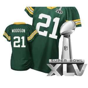 NFL Jerseys #21 Charles Woodson GREEN Authentic Football Jersey