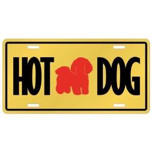 New  Bichon Frise   Hot Dog  License Plate Dog