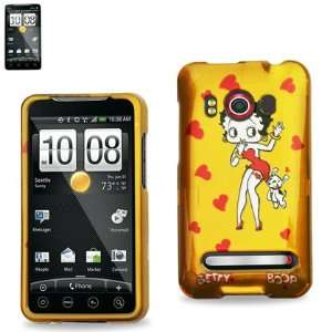 HTC EVO 4G 4 G Yellow with Betty Boop Puppy Dog Red Love