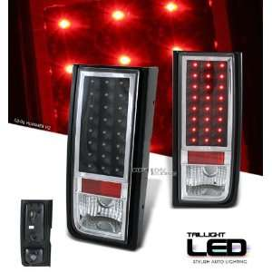 04 05 06 07 HUMMER H2 SUV FULL LED BLACK TAIL LIGHTS LAMPS Automotive