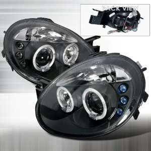 2003 2005 Dodge Neon Halo Led Projector Headlights Black Automotive