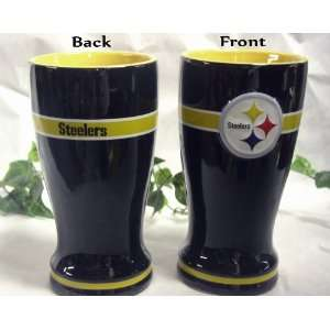 Pittsburgh Steelers 16 Oz Ceramic NFL Pilsner Glass