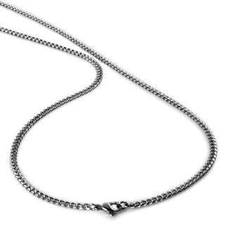Mens Stainless Steel Curb Link Chain Necklace   30 Inches