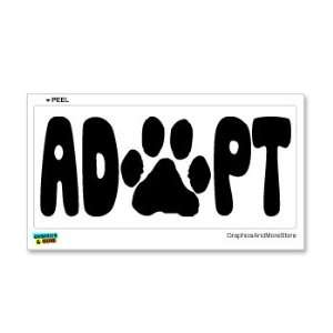 ADOPT Paw Print   Rescue Homeless Dog Cat Shelter   Window