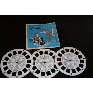 Three View Master Reels Walt Disney Bambi A, B, and C