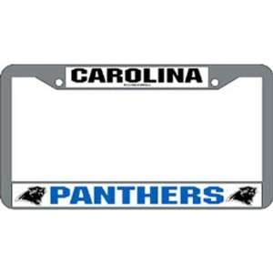 Panthers NFL Chrome License Plate Frame