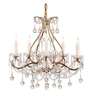 , Teardrop and Swag Style Crystal 5 light Chandelier