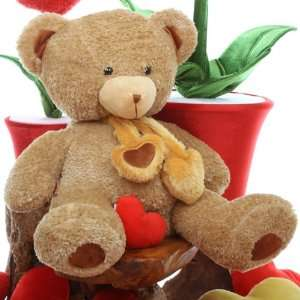 inch Big Amber Cute Valentines Day Teddy Bear Hand Stuffed in the USA