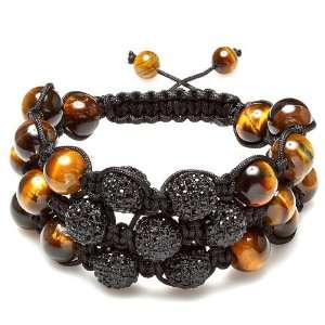 com Dazzling Bracelet Mens Ladies Unisex Hip Hop Style 12 mm 20 Tiger