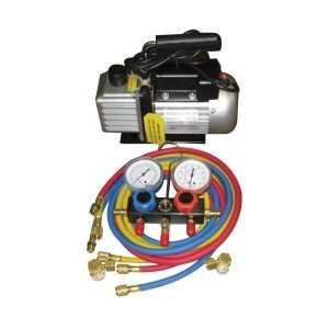 VACUUM PUMP AND GAUGE SET Patio, Lawn & Garden