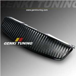 Upper Bumper Front Hood Black Vertical Grill Grille 05 06 Automotive