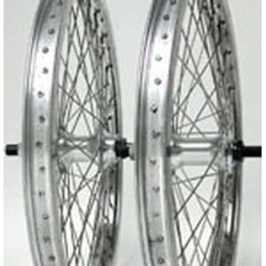 20x2.0, ZAC X, Pair, B/O, 1 sp, Silver Alloy Wheel Sports