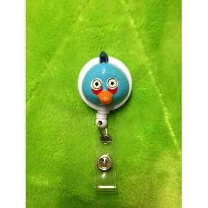 Blue Bird (3D) White Badge Reel ID Badge Holder