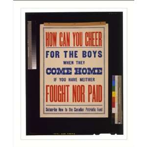 Historic Print (L) How can you cheer for the boys when