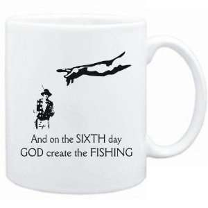 New   Sixth Day God Create The Fishing  Mug Sports