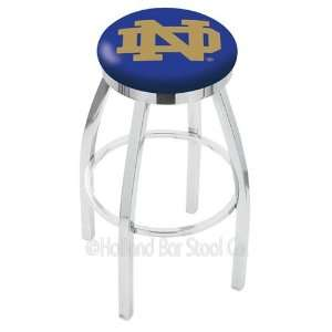 Notre Dame Fighting Irish ND Logo Chrome Swivel Bar Stool Base with