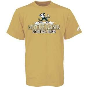 Adidas Notre Dame Fighting Irish Gold Bracket Buster T