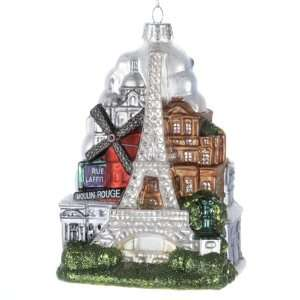 Kurt Adler 5 Inch Glass Paris City Ornament