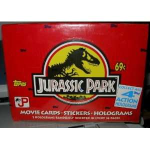 JURASSIC PARK TRADING CARDS TOPPS 1992 FACTORY SEALED BOX