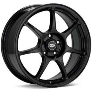 Enkei FUJIN Black (18x8 +40 5x100)    Set of 4 Wheels Automotive