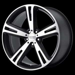 18 American Racing Villain Matte Black/Machined Rims