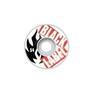 Black Label Cut Up Red Skateboard Wheel   4 Pack  Sports