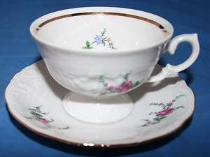 Royal Kent China Dinnerware Poland Roses Cup & Saucer