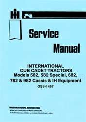 the international cub cadet lawn tractor models 582 582 special