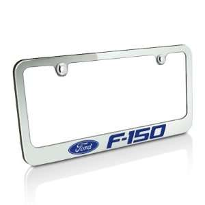 Ford Blue F 150 Chrome Metal Auto License Plate Frame