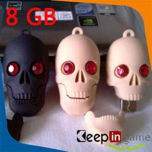 3D Cool Skull USB Flash Memory Stick Drive Pen 8GB 8 GB
