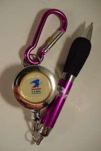 USPS US POSTAL SERVICE MAIL Keychain Pen Retractable