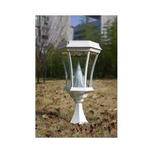 Gama Sonic USA GS 94P WHI Solar Lamp Post Patio, Lawn & Garden