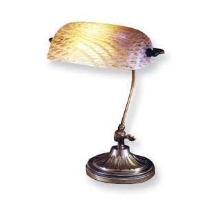 Dale Tiffany Luster Gold Desk Lamp Jewelry